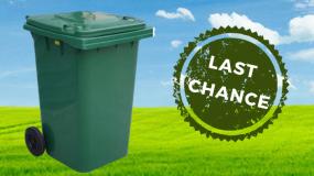 Old Green Garden Organics Bin Recycle