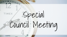 Special Council Meeting