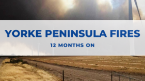12 month Anniversary of the Yorke Peninsula Fires
