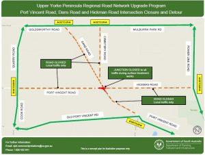 Port Vincent, Dans and Hickman Roads Intersection Closure and Detour